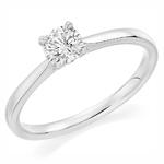 Palladium Affordable Certified 0.30ct Brilliant Cut Diamond Engagement Ring