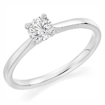 Platinum Affordable Certified 0.30ct Brilliant Cut Diamond Engagement Ring
