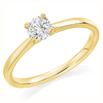 9 Carat Gold Affordable Certified 0.40ct Brilliant Cut Diamond Engagement Ring