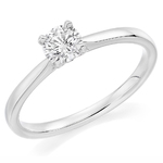 Platinum Affordable Certified 0.51ct Brilliant Cut Diamond Engagement Ring