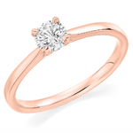 9 Carat Gold Affordable Certified 0.51ct Brilliant Cut Diamond Engagement Ring