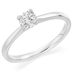 Platinum Affordable Certified 0.70ct Brilliant Cut Diamond Engagement Ring