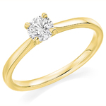 18 Carat Gold Affordable Certified 0.70ct Brilliant Cut Diamond Engagement Ring