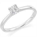 Palladium Affordable Certified 1.01ct Brilliant Cut Diamond Engagement Ring