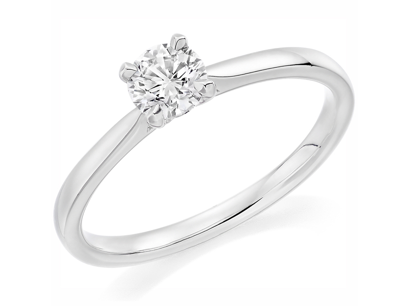 Platinum Affordable Certified 1.01ct Brilliant Cut Diamond Engagement Ring