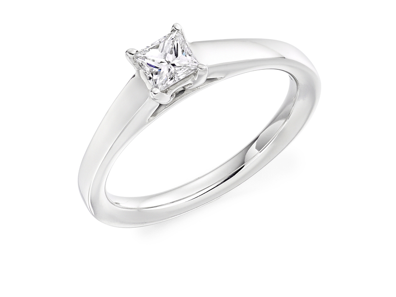 Product standard x4e3m9e4g09 9 ct white gold certified 0.33ct princess cut diamond solitaire white gold unique windor precious quality promise dipple engagement ring