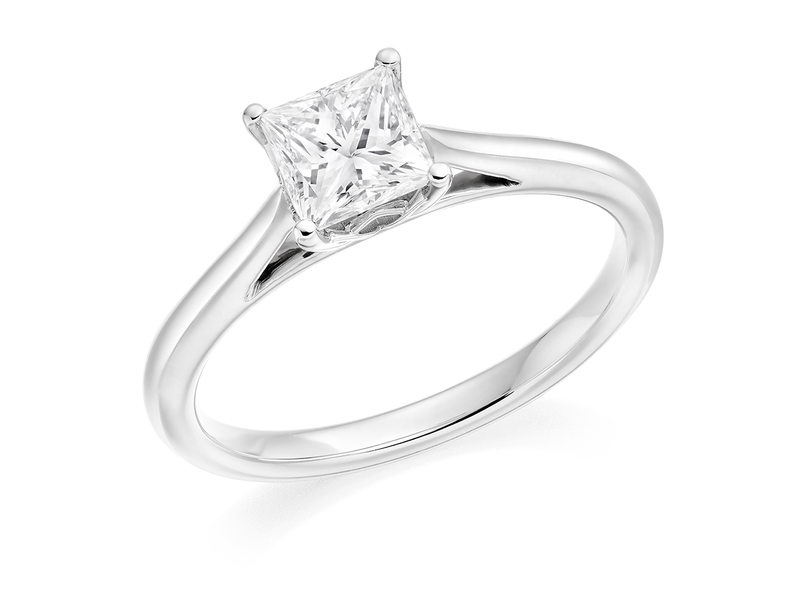 Product standard 2x2e0m7e6g09 9 ct white gold certified 0.75ct princess cut diamond solitaire white gold unique windor precious quality promise dipple engagement ring