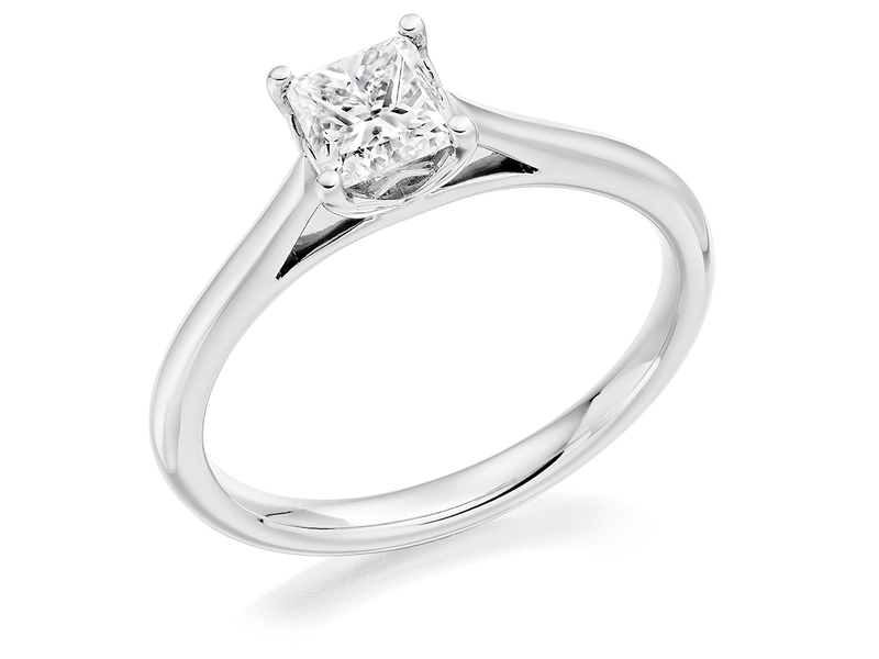 Product standard 2x2e0m7e4g09 9 ct white gold certified 0.50ct princess cut diamond solitaire white gold unique windor precious quality promise dipple engagement ring