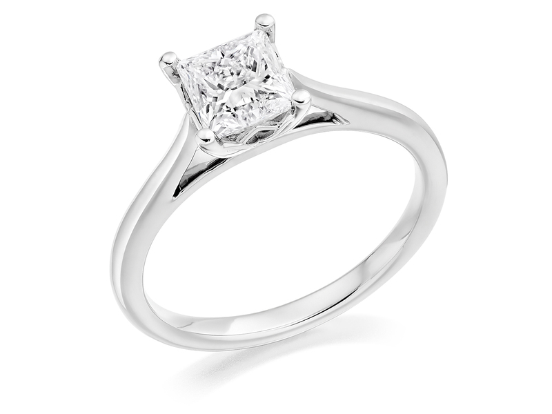 Product standard 2x2e0m7e7g09 9 ct white gold certified 1.00ct princess cut diamond solitaire white gold unique windor precious quality promise dipple engagement ring