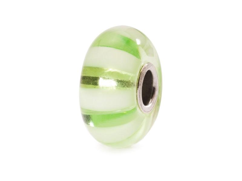 Product standard trollbeads light green stripe bead   5711246007863   troll beads   outlet   tglbe 10246