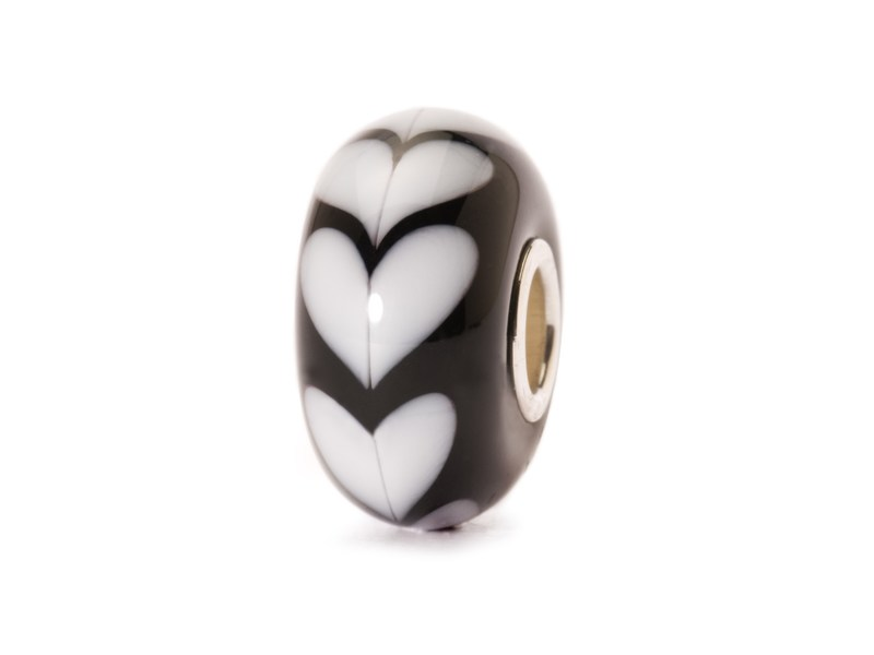 Product standard trollbeads white hearts bead   5711246007917   troll beads   outlet   tglbe 10251