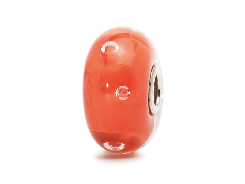 Product standard trollbeads peach bubble bead   5711246016247   troll beads   outlet   tglbe 10138