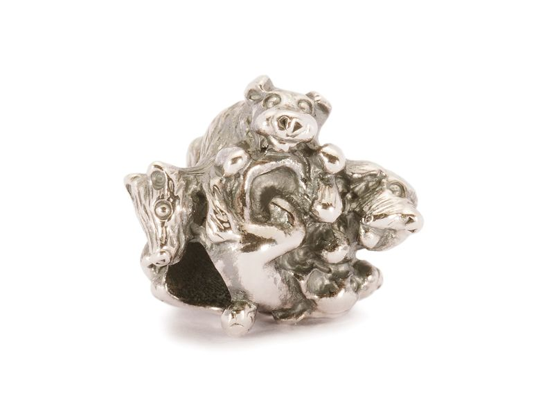 Product standard trollbeads family of puppies bead   5711246002202   troll beads   outlet   tagbe 30026