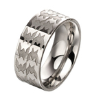 Steel textured mixed plate ring