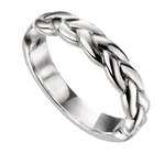 A Genuine Hallmarked 925 Sterling Silver Gents Band Ring