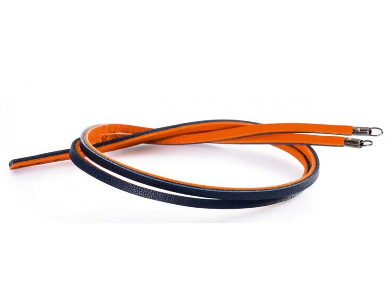 Product standard tlebr 00044 trollbeads ladies orange navy leather bracelet 41cm