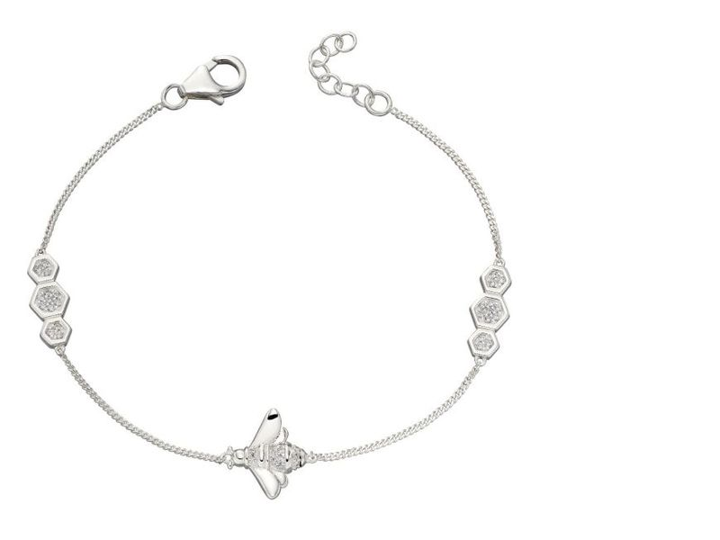 Cubic Zirconia Detailed Bee Bracelet
