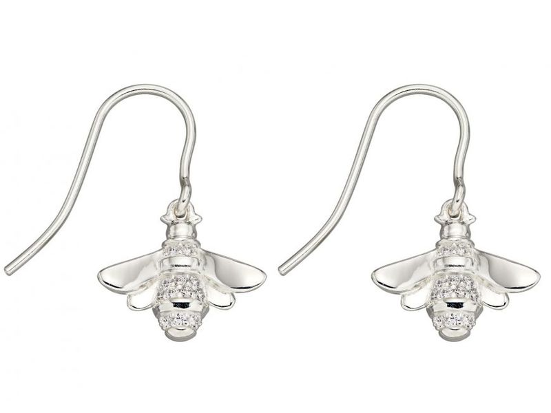 Product standard z1298 cubic zirconia bee drop earrings