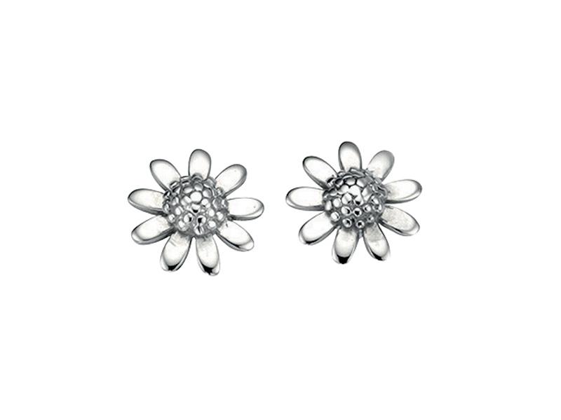 Fourth Avenue Silver Daisy Stud Earrings