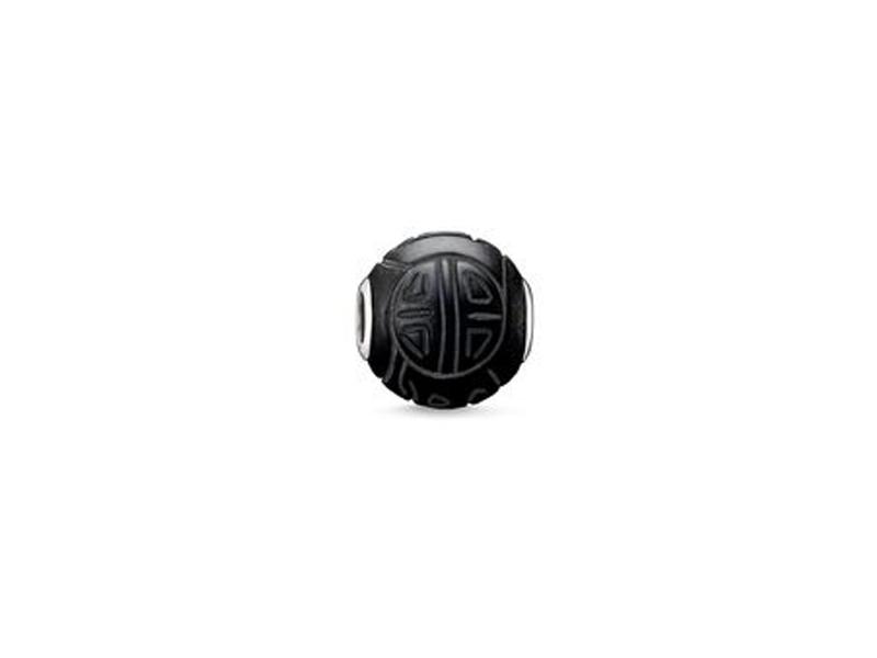Product standard 2 k0055 023 11   thomas sabo   ts black obsidian shanghai karma bead    silver   4051245111361