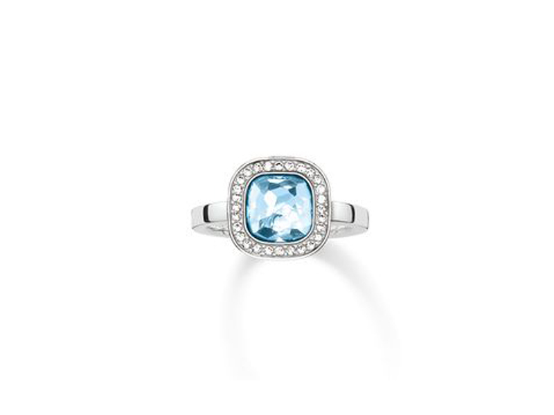 Product standard 2 tr2029 059 1 54   thomas sabo   ts silver   cz light blue solitare ring    silver   4051245133332