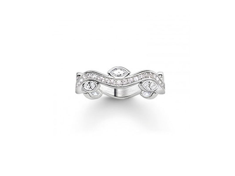 Product standard 2 tr2011 051 14 56   thomas sabo   ts silver   cz regal ring    silver   4051245130546
