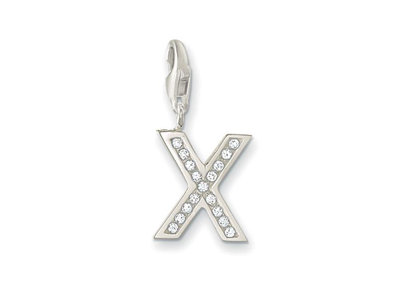 Product standard 2 0246 051 14   thomas sabo   ts silver   cz x charm    silver   9120700894769
