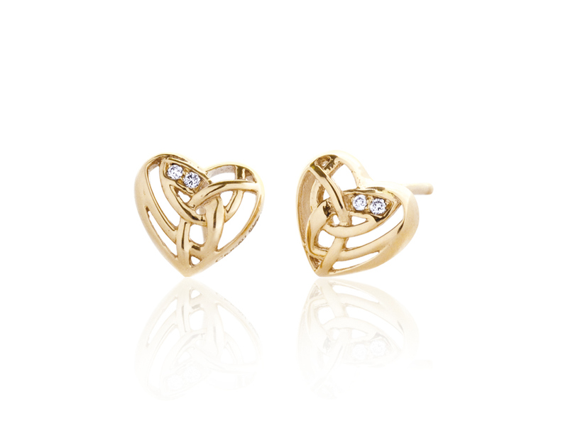Product standard clogau eternal love earrings gold diamonds