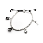 Dog Fever Sterling Silver Charm Bracelet
