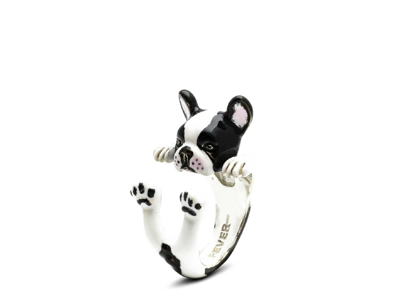 Product standard enamelled hug ring french bulldog