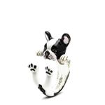 Dog Fever Sterling Silver  French Bulldog Ring