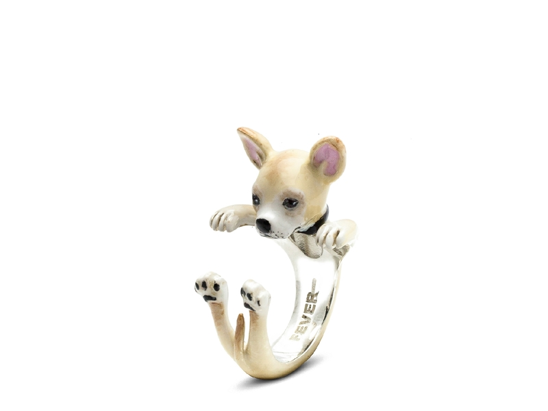 Product standard enamelled hug ring chihuahua