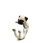 Dog Fever Sterling Silver Pug Ring