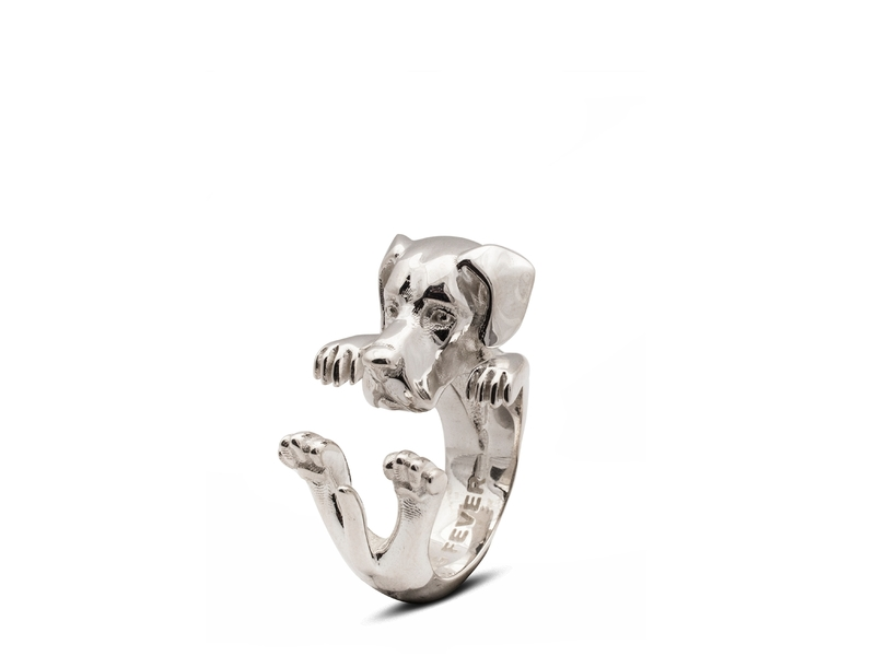 Product standard silver hug ring great dane