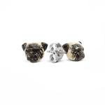 Dog Fever Sterling Silver Pug Stud Earrings