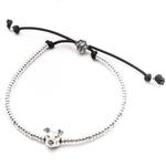 Dog Fever Sterling Silver Plain American Staffy Bracelet