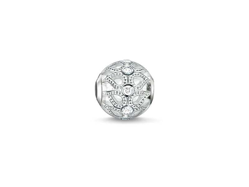 Product standard k0137 051 14 thomas sabo silver dew drops cubic zirconia bead