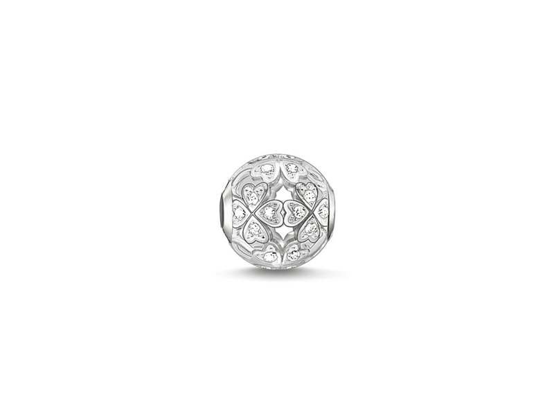 Product standard k0134 051 14 thomas sabo silver clover cubic zirconia bead