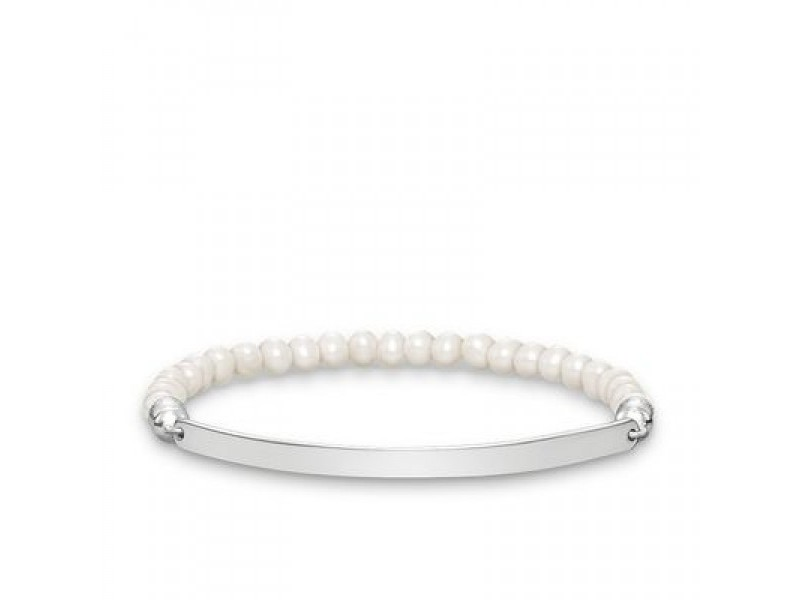 Product standard lba0001 082 14 l13 thomas sabo silver and pearl lovebridge bracelet 13cm