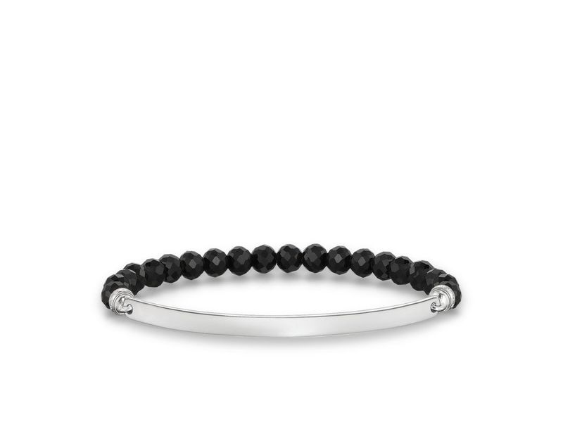 Product standard lba0001 840 11 l17.5 thomas sabo silver and black bead lovebridge bracelet 17.5cm