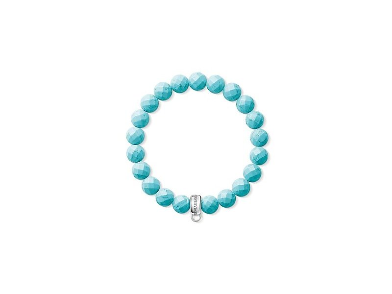 Product standard x0192 404 17 l17.5 thomas sabo turquoise and silver bead bracelet 17.5cm