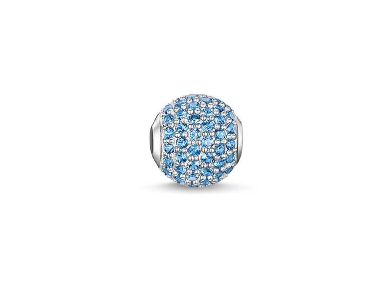 Product standard k0125 699 31 thomas sabo blue pave cubic zirconia bead