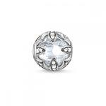 Silver White Lotus Bead