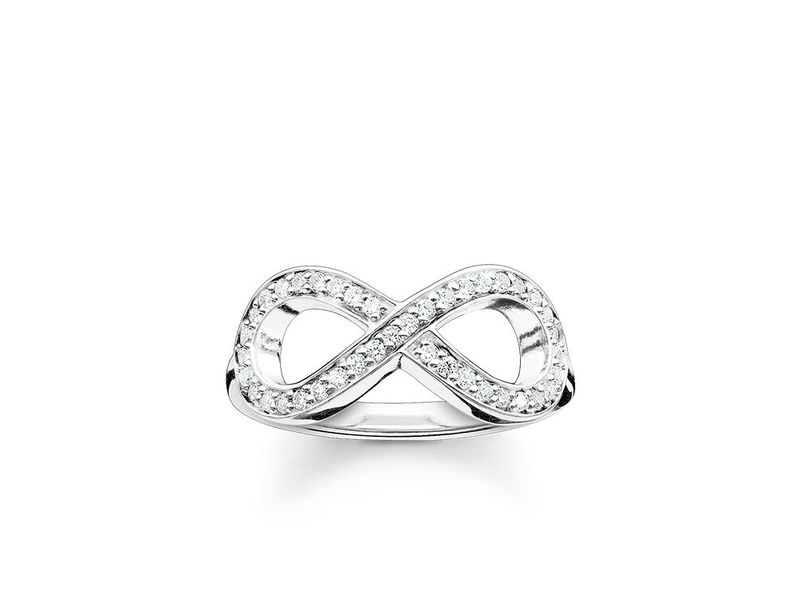 Product standard tr2014 051 14 thomas sabo silver and cubic zirconia infinity ring