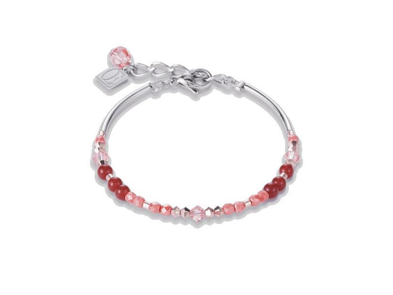 Product standard 4944 30 0323 coral bracelet coeur de lion silver