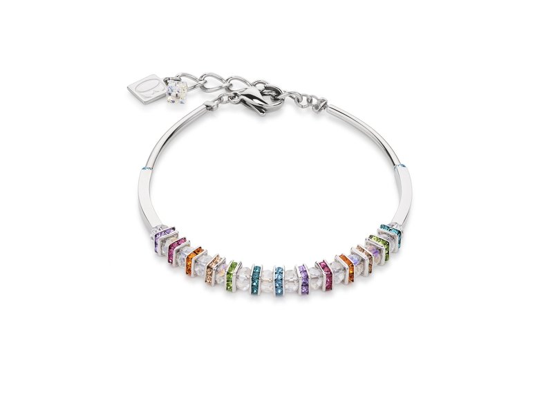 Product standard 4858 30 1518   coeur de lion   multicolour  crystal  bracelets   stainless steel   4250409696953