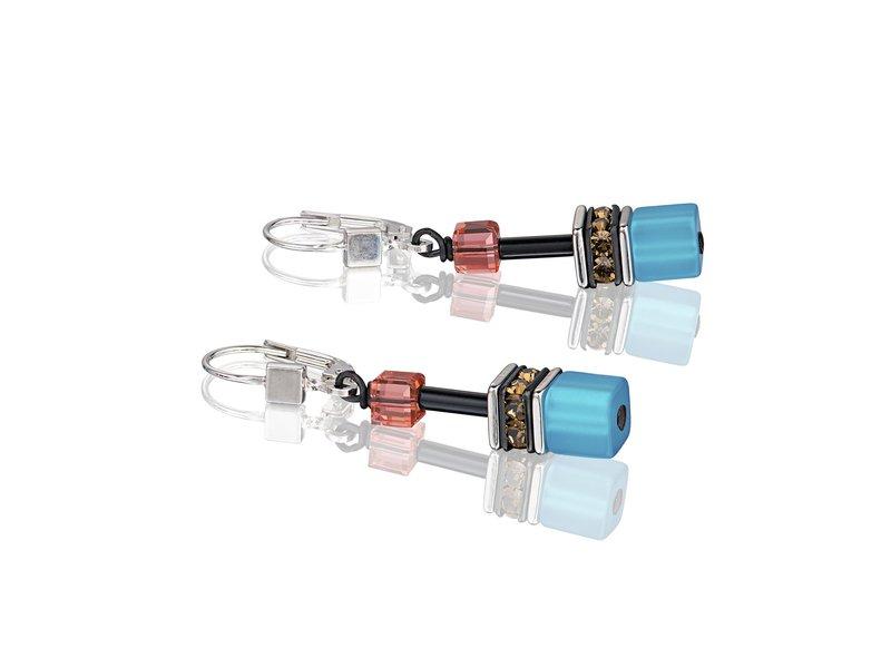 Product standard 2838 20 1563   coeur de lion   multicolour  daylight  blue   orange earrings   stainless steel   4250409694362