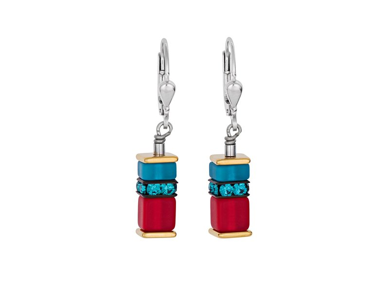 Product standard 4746 20 1500   coeur de lion   multicolour  red   blue  earrings   stainless steel   4250409674364