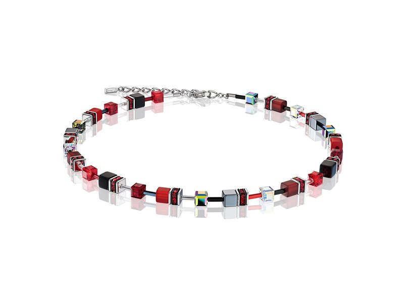 Product standard 4014 10 0312   coeur de lion   multicolour red grey  necklaces   stainless steel   4250409648792
